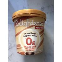 Dessert glacé fudge au caramel