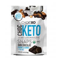ChocXO Choc Keto Chocolat noir , noix de coco et amandes + sel de mer