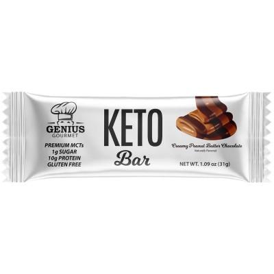 Barre Keto crémeuse beurre d'arachide et chocolat (3 barres)