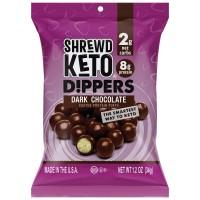Boules de soya protéinées Keto trempées dans le chocolat noir  (8 sachets)