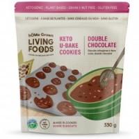 Biscuits keto à faire cuire, double chocolat