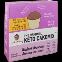Mélange à gâteau Brownie aux noix (mug cake)