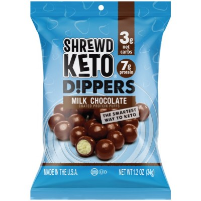 Keto Dippers Milk Chocolate Coated Protein  Puffs (3 packets)