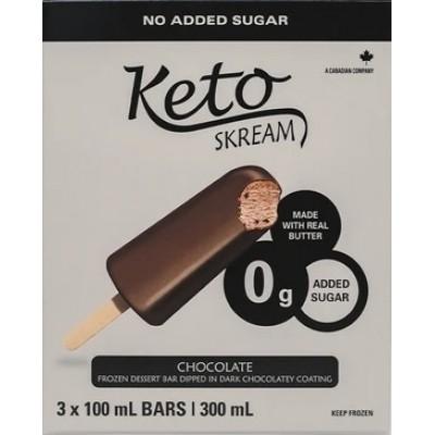 Barre glacée au chocolat enrobée de chocolat noir