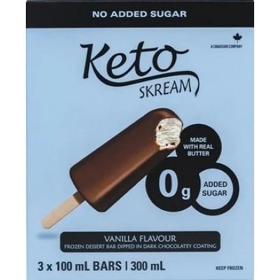Barre glacée à la vanille enrobée de chocolat noir