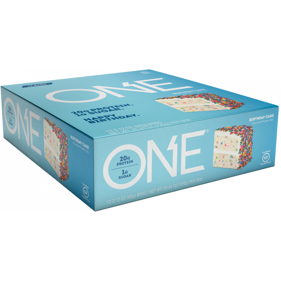 Brilliant Birthday Cake Bar Box Of 12 One Protein911 Funny Birthday Cards Online Inifofree Goldxyz